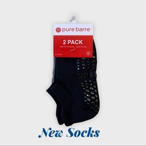 Pure Barre 2 Pack Socks Black/Grey